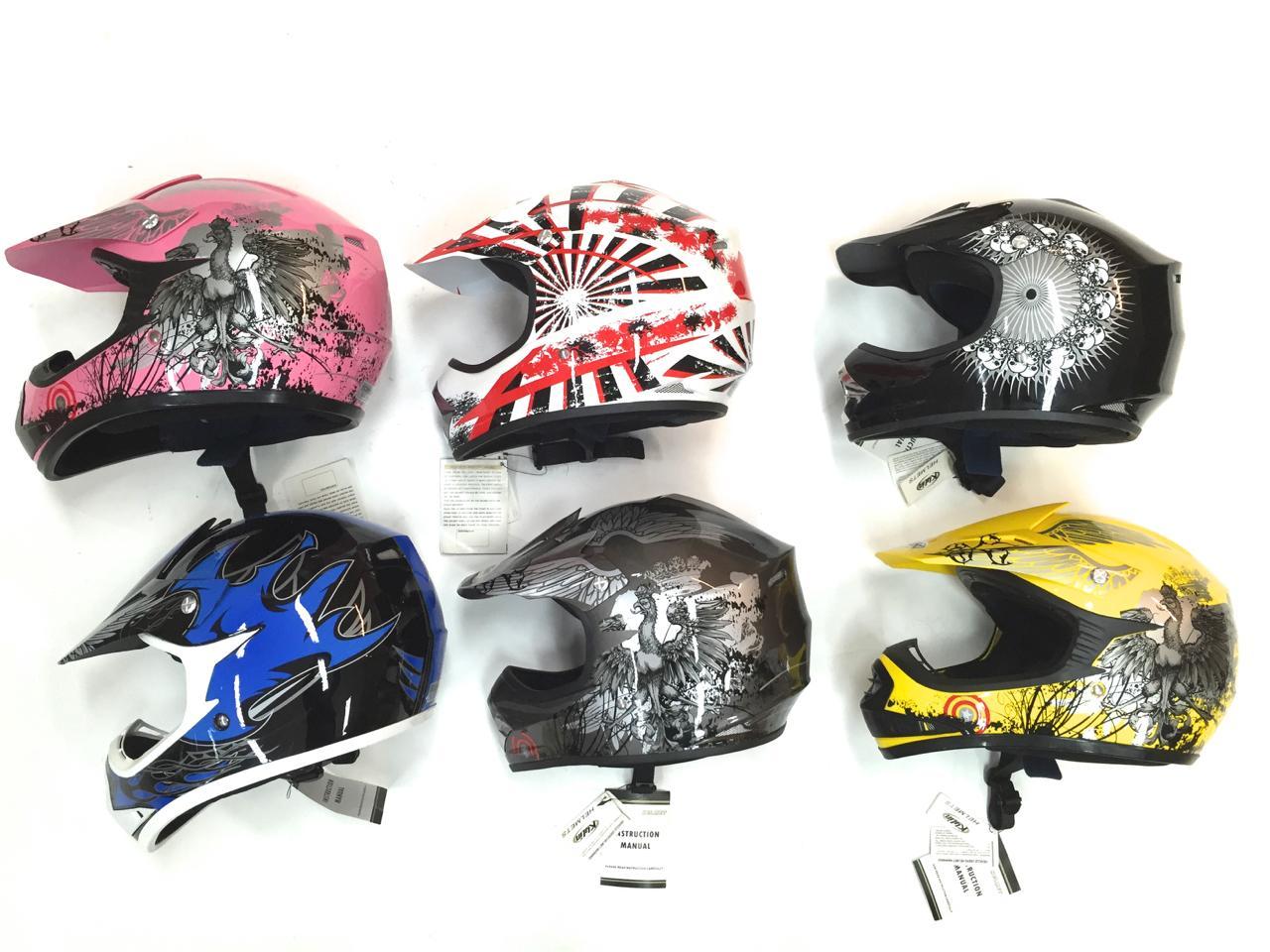 Godt utvalg i attraktive ECE godkjente hjelmer