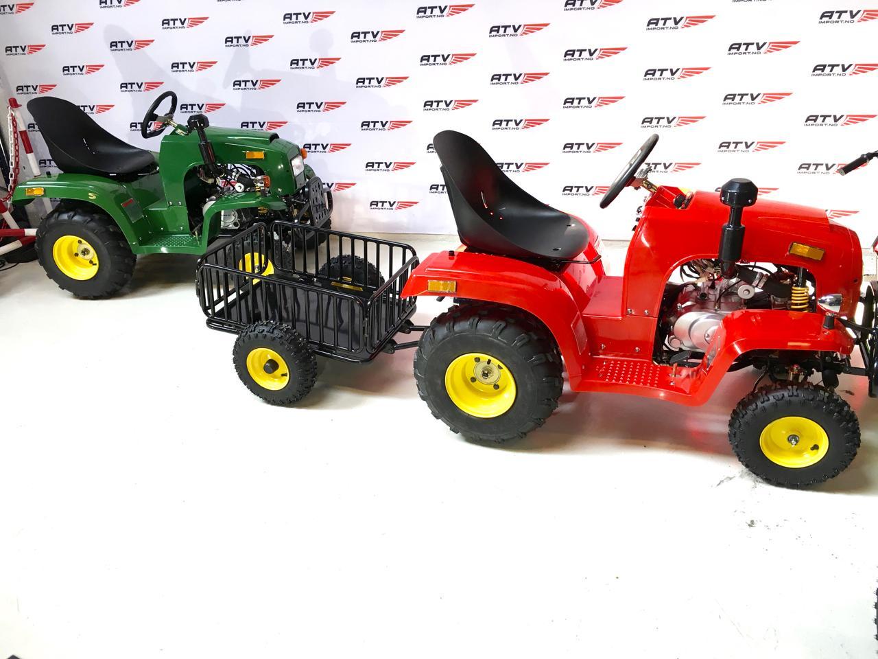 110cc MiniTraktor med henger i grønn eller rød