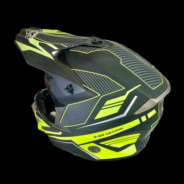 HDM  hjelm i mattsort/signalgul/carbonmønster XL (61-62cm)