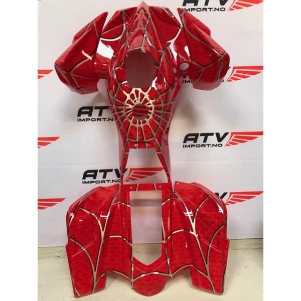 Plastkåpe rød spider