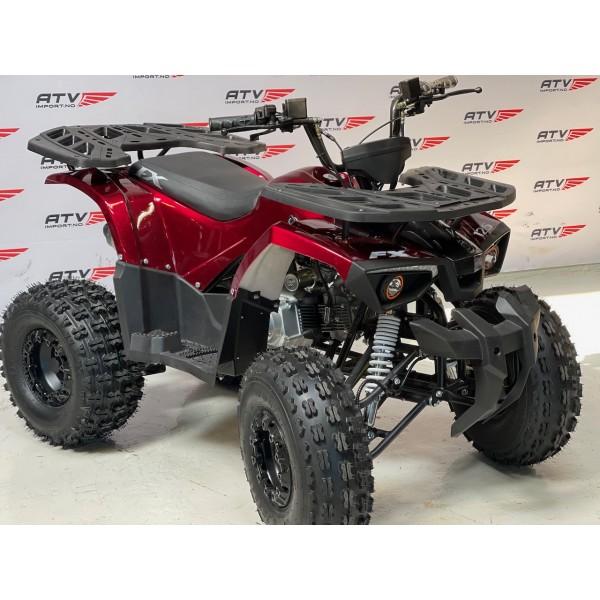 NY modell -125 cc (1+1) Stor barn/ungdomsmodell med hengerkule, LED lys. m.m.. - rød metalic