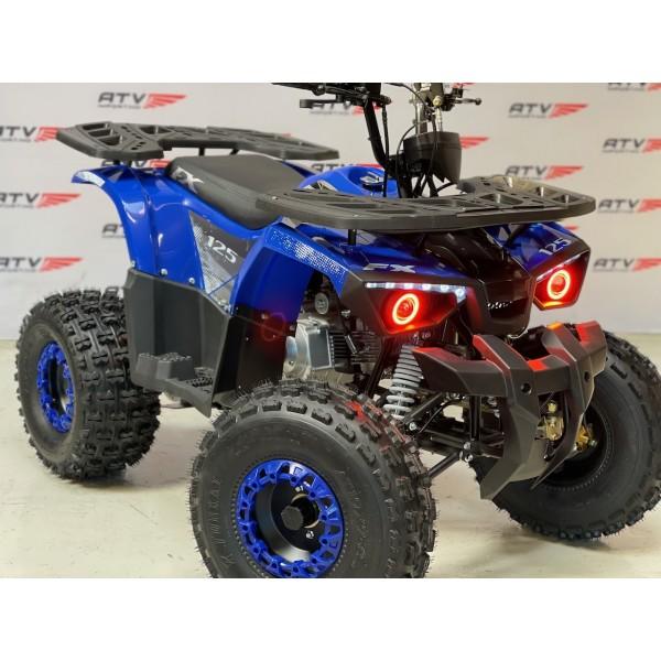 NY modell -125 cc (1+1) Stor barn/ungdomsmodell med hengerkule, LED lys. m.m. - blå