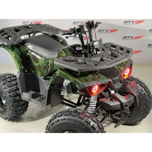 NY modell -125 cc (1+1) Stor barn/ungdomsmodell med hengerkule, LED lys. m.m. - grønn kamuflasje