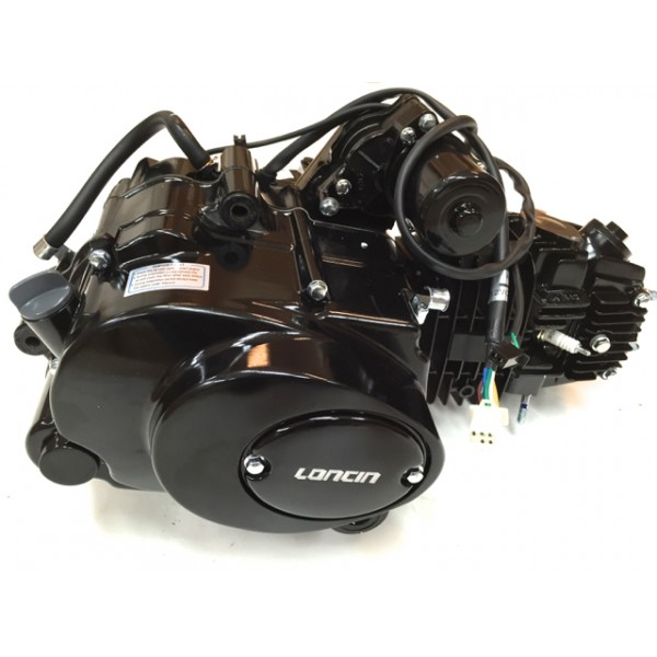 LONCIN komplett motor 125cc 3+1, sort