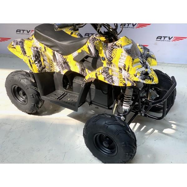 Elektrisk børsteløs, stor barne ATV gul F1