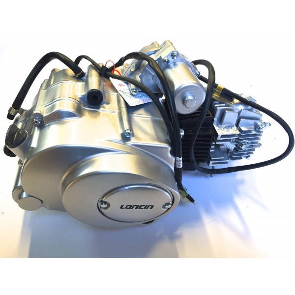 LONCIN motor 110cc 1+3, sølv