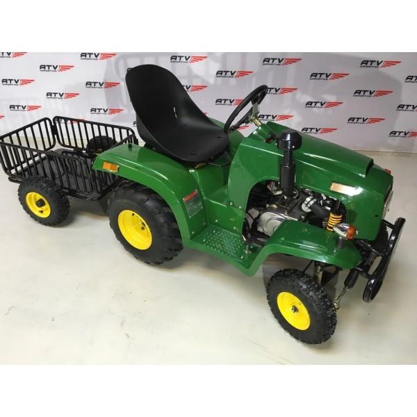 110cc Mini Traktor med henger grønn