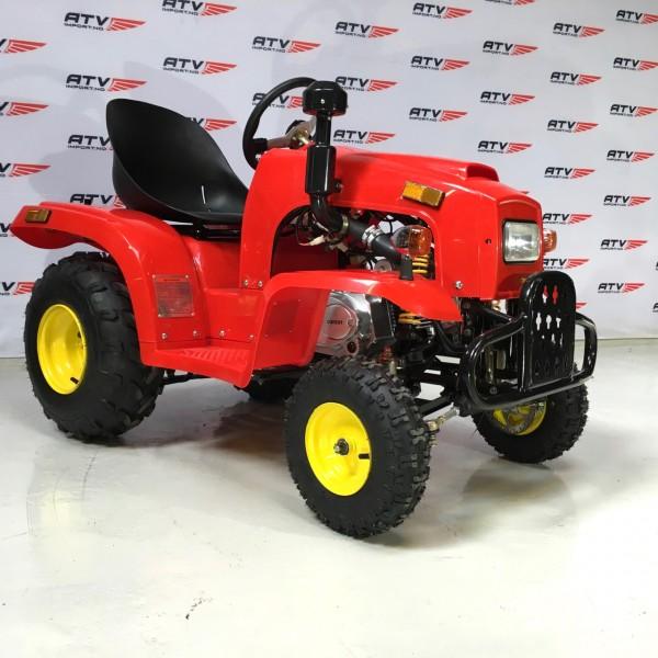 110cc Mini Traktor med henger rød